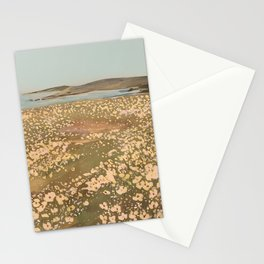Wildflower Fields by the Ocean Stationery Cards