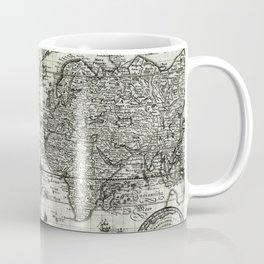 Map-Merian, Matthaeus Nova totius terrarum orbis geopraphica ac hydrographica Coffee Mug