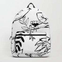 Floral Illustration (clear background) Backpack