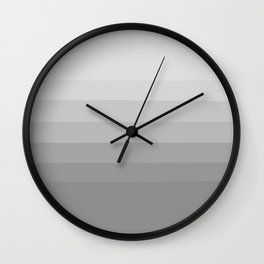 Clean Grey Lines - Gradient Grayscale Stripes Abstract Wall Clock