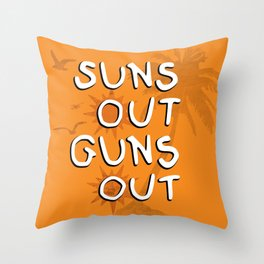 Suns Out Throw Pillow