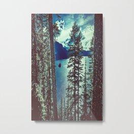 Crater Lake Vintage Summer Metal Print
