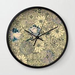 Exotic Flowers Garden Wall Clock