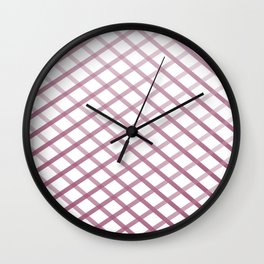 Plum Cross Stitch Wall Clock