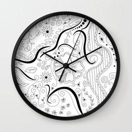 Swirly Floral Dream Wall Clock