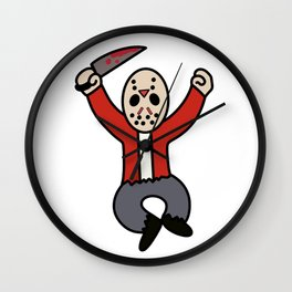 Excited Jason Wall Clock