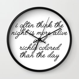 more alive and richly colored Wall Clock