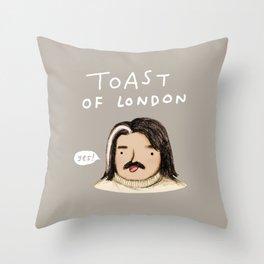 Toast of London Throw Pillow