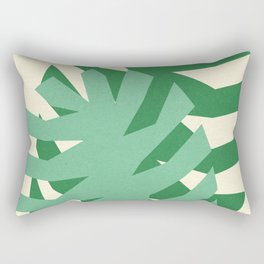 Two Leafs Rectangular Pillow