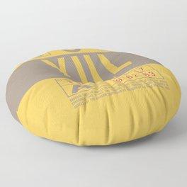 Baggage Tag B - YUL Montreal Canada Floor Pillow