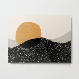 Gold Sun Going Metal Print