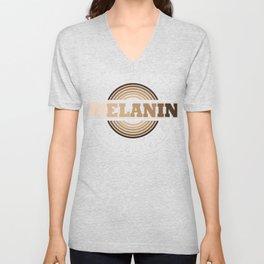 Melanin-Always Poppin'-gift idea for African American men & women Unisex V-Neck
