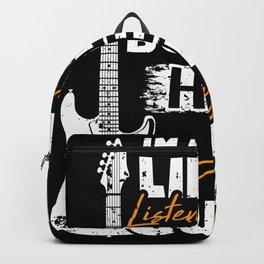Guitarist Guitarist Gift Guitar Player Backpack