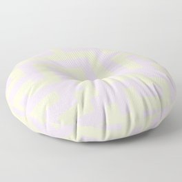Cream Yellow and Pink Lace Labyrinth Floor Pillow
