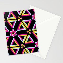 Vibrant Penrose Triangle Pattern Stationery Cards