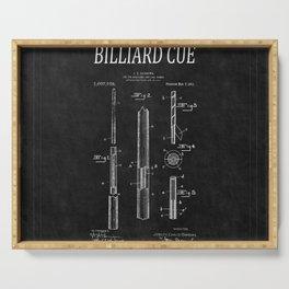 Billiard Cue Patent 2 Serving Tray