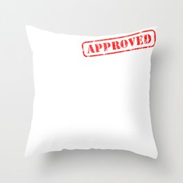 Title of master craftsman Graduation Gift to the passed master craftsman Throw Pillow
