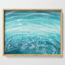 Blue Ocean Dream #1 #water #decor #art #society6 Serving Tray