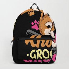 Dog Groomer Dog Stylist Motif Backpack