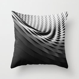 architecture black white Throw Pillow