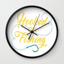 Hooked on fishing Wall Clock