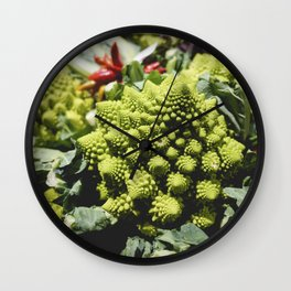 Romanesco broccoli in a grocery store Wall Clock