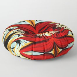 Souls of Red Peony Floor Pillow