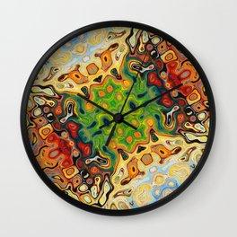 abstract liquify psychedelic art Wall Clock