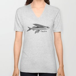 Flying Fish Unisex V-Neck