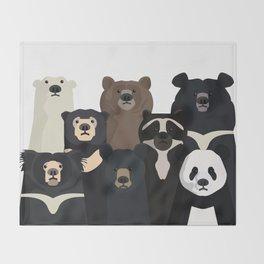 Bear family portrait Decke