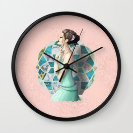By the Stained Glass Wall Clock