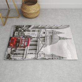 Black&white photography.  London Town ,cityscape,England ,Great Britain decor  Rug
