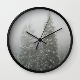 Snow and Fog Wall Clock