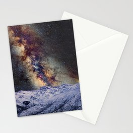 Sagitario, Scorpio and the star Antares over the hight mountains Stationery Cards