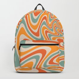 Retro Swirl 70s Backpack