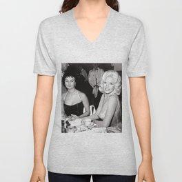 'Best Envy' Iconic Hollywood Starlet Black and White Photograph Unisex V-Neck
