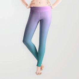 Pink Teal Ombre Gradient Summer Pattern Leggings