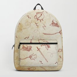 Wizard vintage pattern Backpack