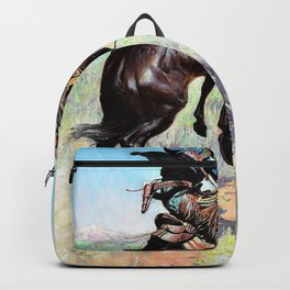 Busting a Broncho - William Herbert Dunton Backpack