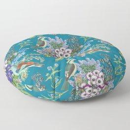 Mosaic Blue Birds Floor Pillow