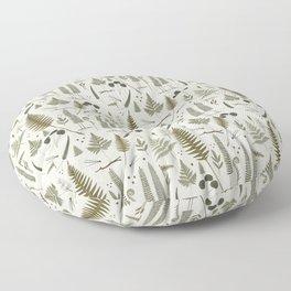 fern pattern white Floor Pillow