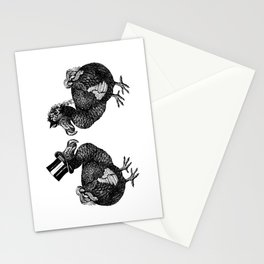 Mr and Mrs Dodo   Dodo Couple   Dodo Bird   Extinct Birds   Black and White   Stationery Cards