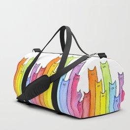 Cat Rainbow Watercolor Pattern Sporttaschen