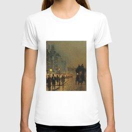 Classical Masterpiece 'Glasgow, Twilight' by John Atkinson Grimshaw T-shirt