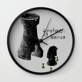 Chess Rook - Trojan Horse Wall Clock