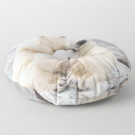 Polar Bear Love Floor Pillow