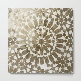 Moroccan Gold I Metal Print