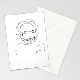 He was in such a great mood today Stationery Cards