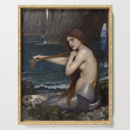 A MERMAID - WATERHOUSE Serving Tray