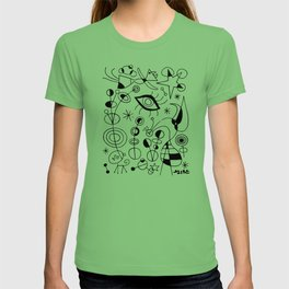 Joan Miro Peces De Colores (Colorful Fish) T Shirt, Artwork Reproduction T-shirt